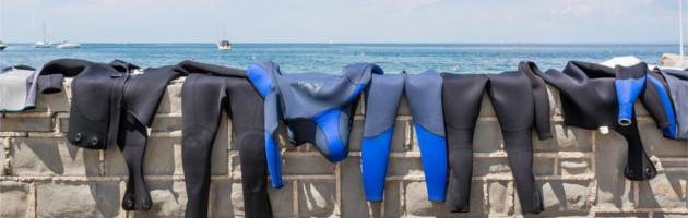 scuba equipment washing