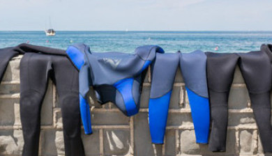 scuba equipment washing